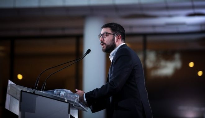 Ο εκπρόσωπος Τύπου του ΣΥΡΙΖΑ - ΠΣ, Νάσος Ηλιόπουλος.