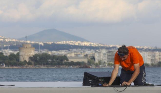 Αποψη από το λιμάνι της Θεσσαλονίκης