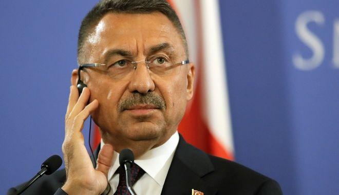 Ο Τούρκος αντιπρόεδρος, Φουάτ Οκτάι.