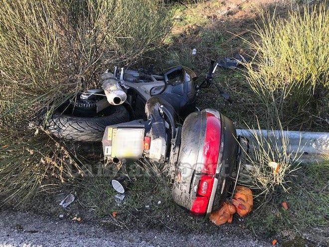 Λαμία: Από τύχη σώθηκαν δύο αδέρφια με μηχανή