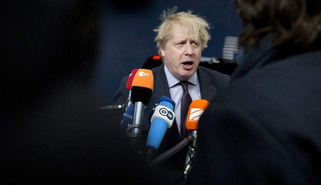 O βρετανός υπουργός Εξωτερικών, Μπόρις Τζόνσον