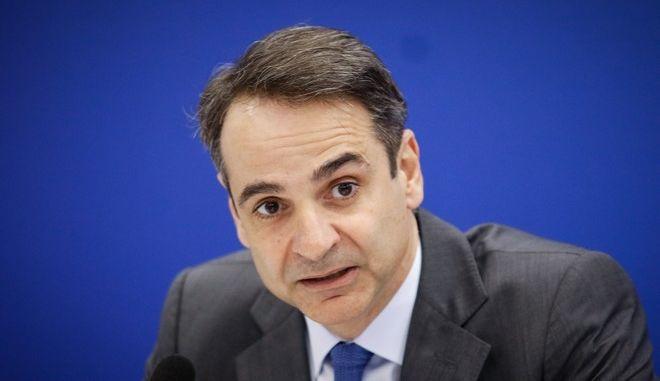 Ο Πρόεδρος της ΝΔ, Κυριάκος Μητσοτάκης