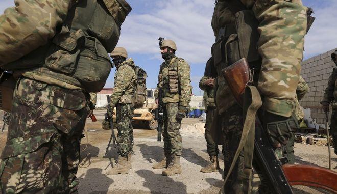 Τούρκοι στρατιώτες στη Συρία.