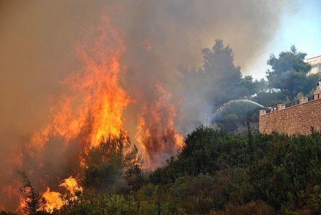 Πυρκαγιά στην Αναφωνήτρια Ζακύνθου το Σάββατο 26 Αυγούστου 2017. (EUROKINISSSI)