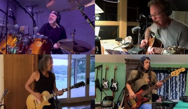 """Οι Metallica τραγουδούν το """"Blackened"""" εν μέσω καραντίνας"""