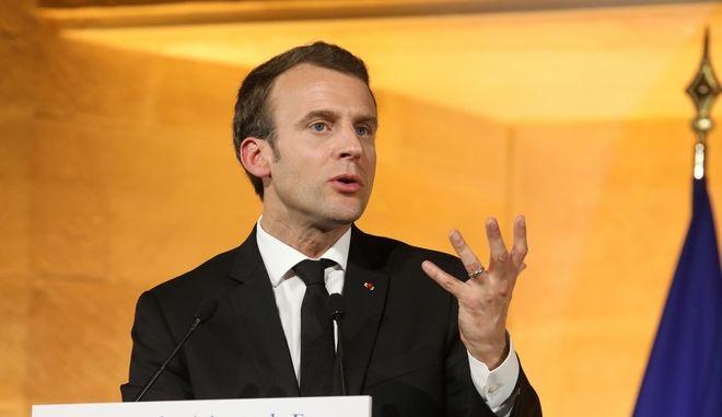 O Γάλλος πρόεδρος Εμ. Μακρόν