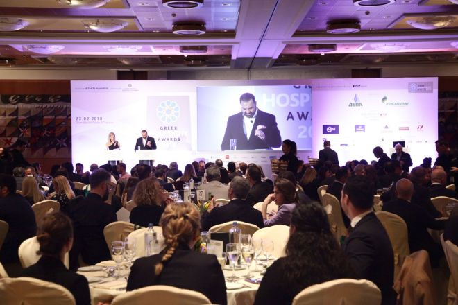 """Το Χρυσό βραβείο στην Ideal Standardως """"Best Hotel Supplier"""" στα Greek Hospitality Awards 2018"""