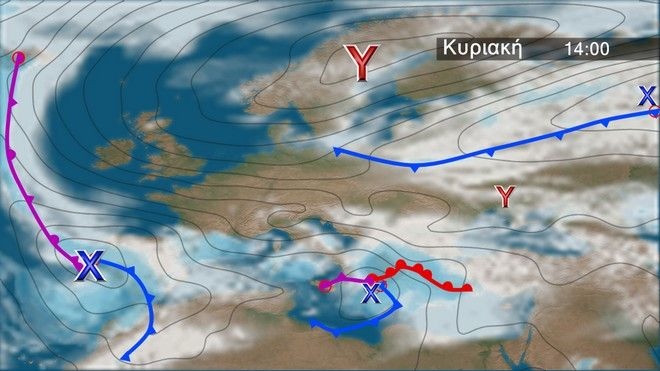 Ο καιρός στην Ευρώπη την Κυριακή