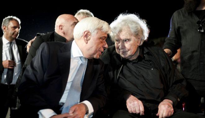 O Μίκης Θεοδωράκης με τον Προκόπη Παυλόπουλο