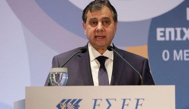 Ο πρόεδρος του ΕΒΕΠ, Βασίλης Κορκίδης (φωτογραφία αρχείου 2018).