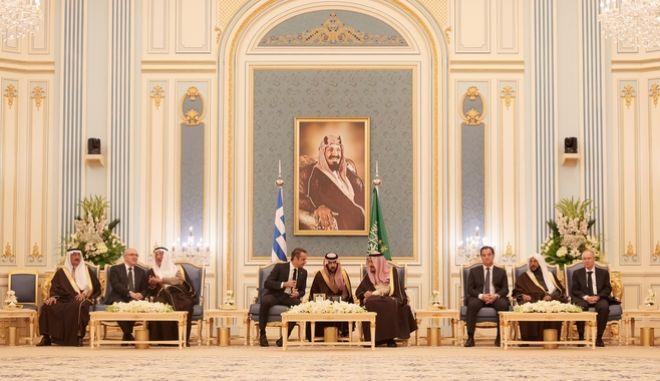 Επίσκεψη του Πρωθυπουργού Κυριάκου Μητσοτάκη στην Σαουδική Αραβία την Δευτέρα 3 Φεβρουαρίου 2020.