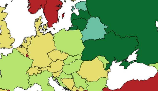 Χάρτης: Πού ζουν οι περισσότερες γυναίκες στην Ευρώπη