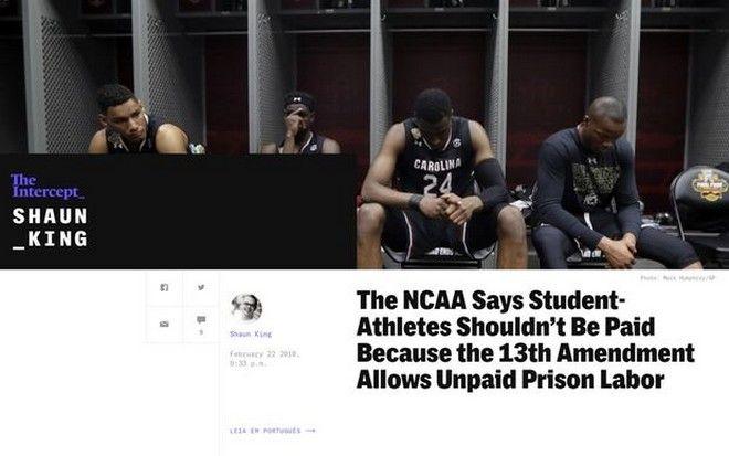 Για τον αμερικανικό νόμο οι ερασιτέχνες αθλητές είναι σκλάβοι