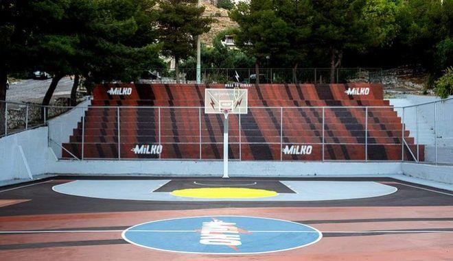 To Milko «κάνει αληθινό» το νέο Γήπεδο Μπάσκετ Αγίας Βαρβάρας!
