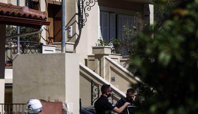 Το σπίτι οπου διαπράχθηκε το έγκλημα στα Γλυκά Νερά.