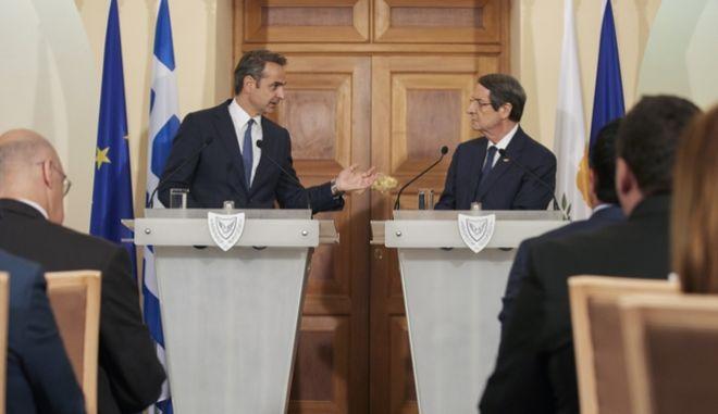 Συνάντηση Μητσοτάκη - Αναστασιάδη στην Κύπρο