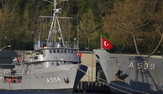 Τουρκικά πλοία στον Βόσπορο