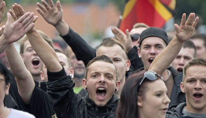 Στιγμιότυπο από διαδήλωση στο Βερολίνο