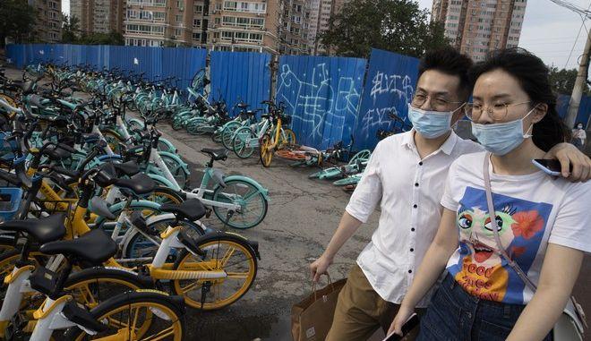 Κάτοικοι στο Πεκίνο