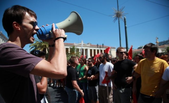 24-8-2011-ΑΘΗΝΑ-Πανεκπαιδευτικό συλλαλητήριο στα Προπύλαια και πορεία προς τη Βουλή, σε ένδειξη διαμαρτυρίας για το νομοσχέδιο που αφορά την Παιδεία.(EUROKINISSI-ΓΕΩΡΓΙΑ ΠΑΝΑΓΟΠΟΥΛΟΥ)