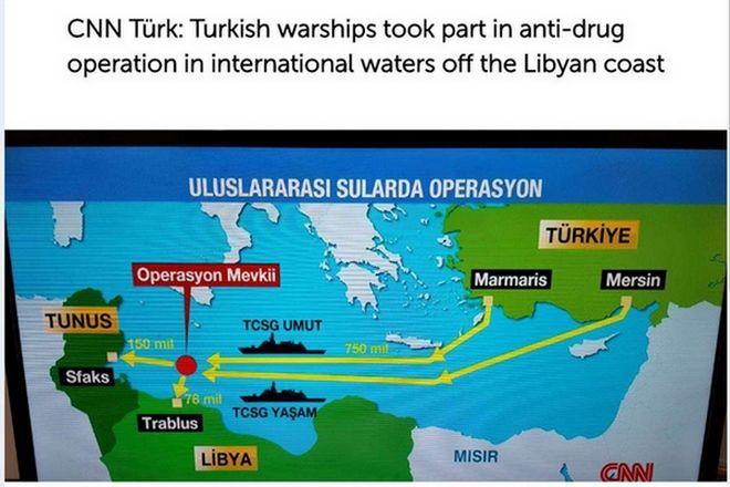 Η φωτογραφία από το ρεπορτάζ του Cnn Turk δείχνει σε ποια περιοχή οι Τούρκοι κάνουν επίδειξη σημαίας.