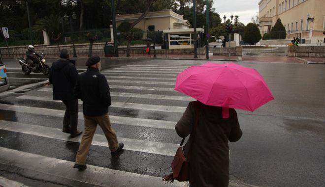 Βροχή στην Αθήνα, την Τετάρτη 25 Ιανουαρίου 2017. (EUROKINISSI//ΓΙΑΝΝΗΣ ΠΑΝΑΓΟΠΟΥΛΟΣ)
