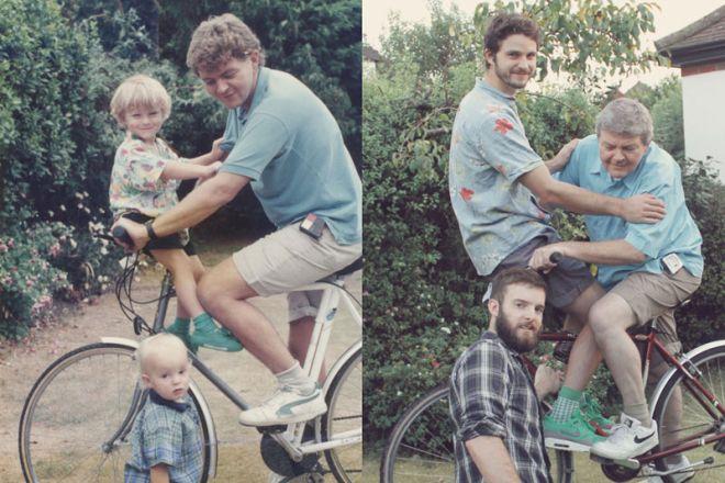 Τότε και τώρα: Δυο αδέρφια δίνουν ζωή σε παιδικές τους φωτογραφίες
