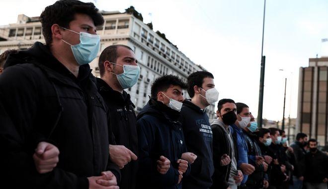 Συγκέντρωση και πορεία στο κέντρο της Αθήνας για την ημέρα δράσης ενάντια στον αυταρχισμό (φωτο αρχείου)