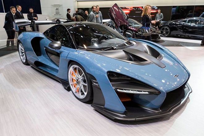 epa06584830 The New McLaren Senna is presented during the press day at the 88th Geneva International Motor Show in Geneva, Switzerland, 06 March 2018. The Motor Show will open its gates to the public from 08 to 18 March presenting more than 180 exhibitors and more than 110 World and European premieres.  EPA/TCYRIL ZINGARO