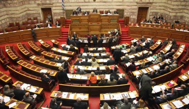 ΒΟΥΛΗ- Ολομέλεια συζητεί την πρόταση της Προανακριτικής Επιτροπής για το Βατοπέδι, σχετικά με τις παραπομπές πρώην υπουργών//  ΨΗΦΟΦΟΡΙΑ.(EUROKINISSI-ΓΙΑΝΝΗΣ