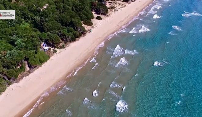 Drone ταξίδι κόντρα στον καύσωνα. Ο χρυσός παράδεισος της Κυλλήνης