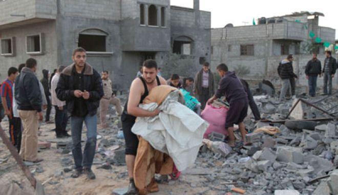 Ξεκληρίστηκε τετραμελής οικογένεια στη Γάζα