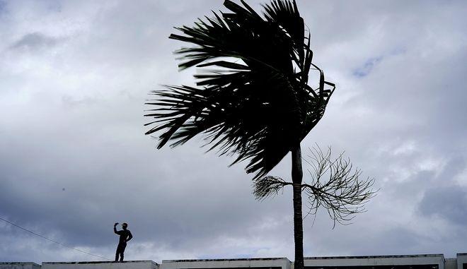 Εικόνα από τις Μπαχάμες ενόψει της άφιξης του τυφώνα Ντόριαν