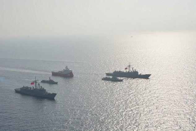 Φωτογραφίες του Barbaros με τουρκικά πολεμικά στην Κύπρο μοιράζουν οι Τούρκοι