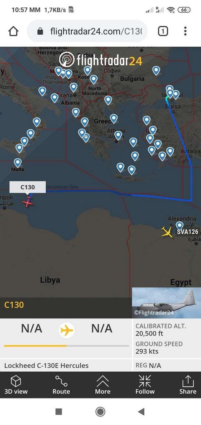 Ποιο εμπάργκο όπλων στη Λιβύη; Πάνε κι έρχονται τα τουρκικά C-130