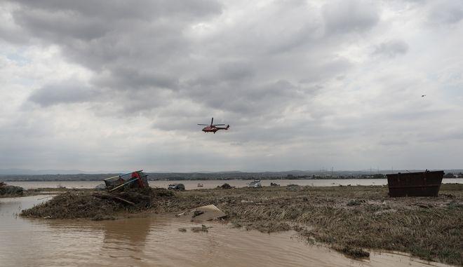 Στιγμιότυπο από την περιοχή Μπούρτζι της Εύβοιας μετά τις πλημμύρες
