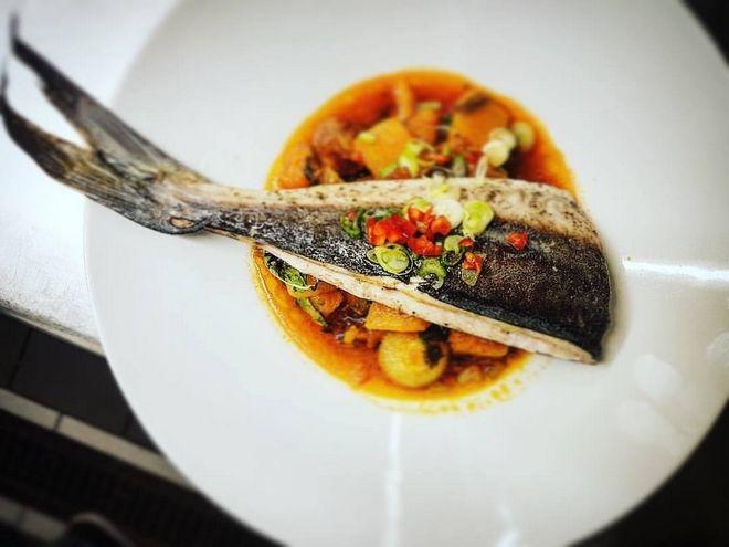 Χαρακτηριστικό πιάτο από το εστιατόριο Κυριμαί, στο Γερολιμένα Μάνης
