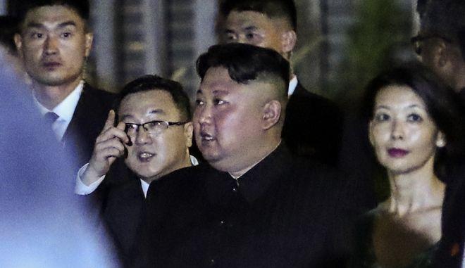 Ο Βορειοκορεάτης ηγέτης Kim Jong Un στη Σιγκαπούρη