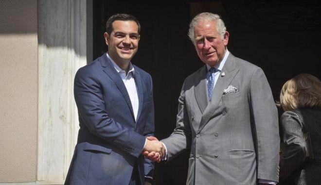 Συνάντηση του Πρωθυπουργού Αλέξη Τσίπρα με τον Πρίγκιπα της Ουαλίας Κάρολο