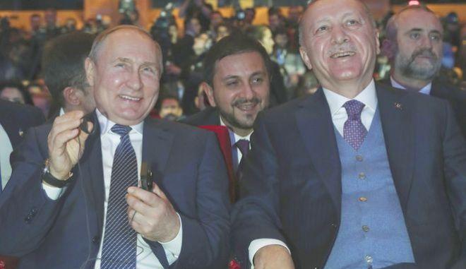 Πούτιν και Ερντογάν σε χαλαρό στιγμιότυπο