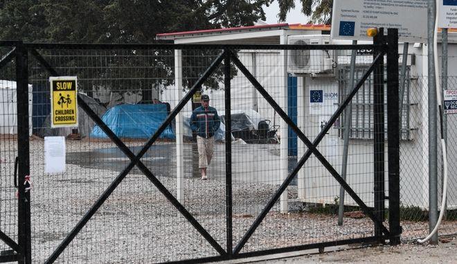 Η δομή προσφύγων στη Μαλακάσα.