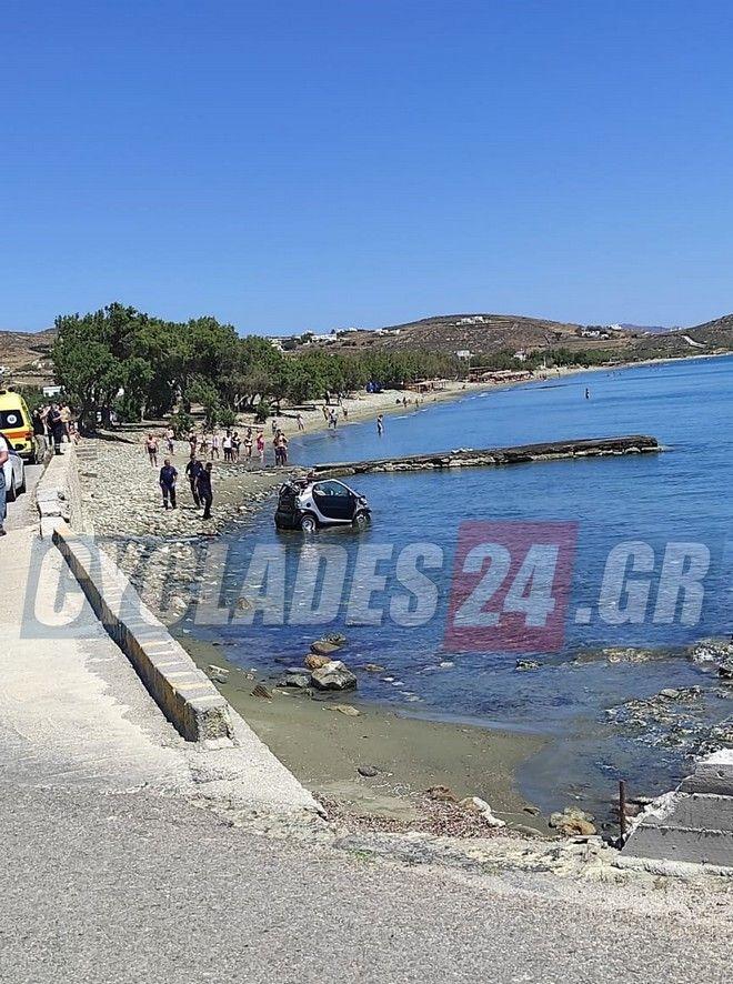 Τήνος: Προσπάθησε να αποφύγει τη σύλληψη και βούτηξε με το αυτοκίνητο στη θάλασσα