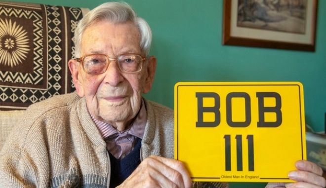 O Bob Weighton, ο γηραιότερος εν ζωή άνθρωπος στην Αγγλία