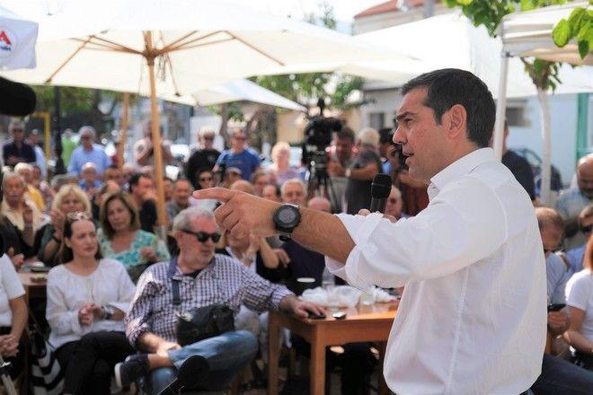 Περιοδεία του προέδρου του ΣΥΡΙΖΑ, Αλέξη Τσίπρα, στα Χανιά την Δευτέρα 21 Οκτωβρίου 2019.