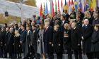 Επικεφαλής κρατών και κυβερνήσεων στην Αψίδα του Θριάμβου, Παρίσι, για τα 100 χρόνια από την λήξη του Α' Παγκοσμίου Πολέμου