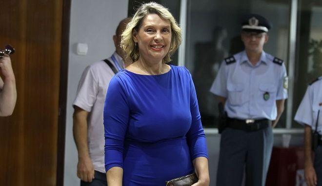 Η υφυπουργός Προστασίας του Πολίτη Κατερίνα Παπακώστα