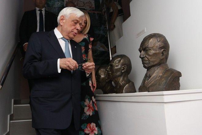 Ο Πρόεδρος της Δημοκρατίας Προκόπης Παυλόπουλος μετέβει σήμερα στο Νομό Ηρακλείου Κρήτης για να παραστεί στις εκδηλώσεις που πραγματοποιήθηκαν για τον εορτασμό του Έτους Νίκου Καζαντζάκη. Σάββατο, 29 Ιουλίου 2017 (EUROKINISSI)