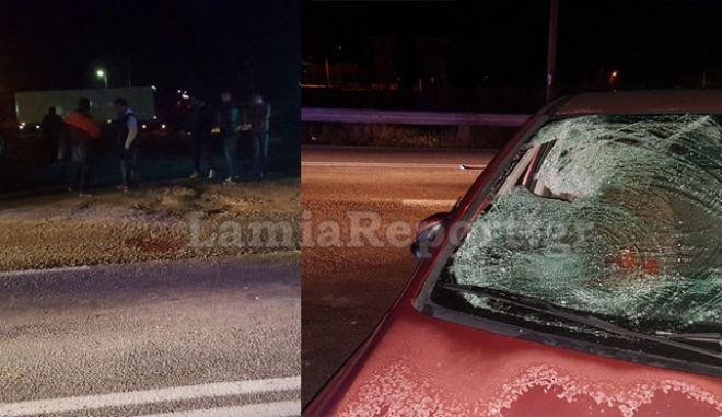 Αυτοκίνητο παρέσυρε πεζό στη Λαμία