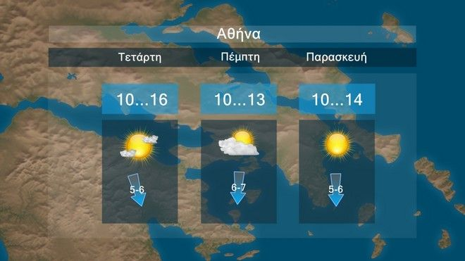 Η πρόγνωση του καιρού για την Αττική