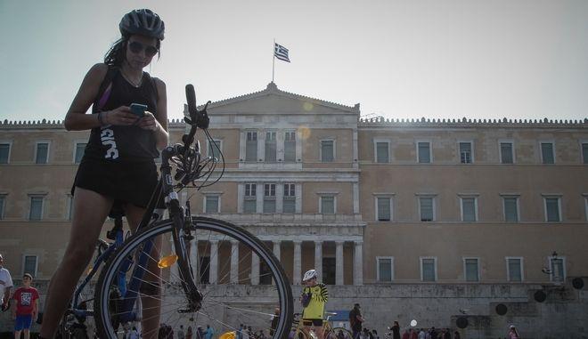 Ποδηλατικός γύρος Αθήνας (EUROKINISSI/ΣΩΤΗΡΗΣ ΔΗΜΗΤΡΟΠΟΥΛΟΣ)